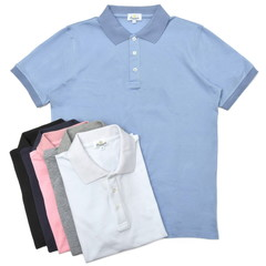 Giannetto(ジャンネット)<br>ウォッシュドコットン鹿の子ソリッドS/Sポロ WIMBLEDON/POLO/MM 12101004109